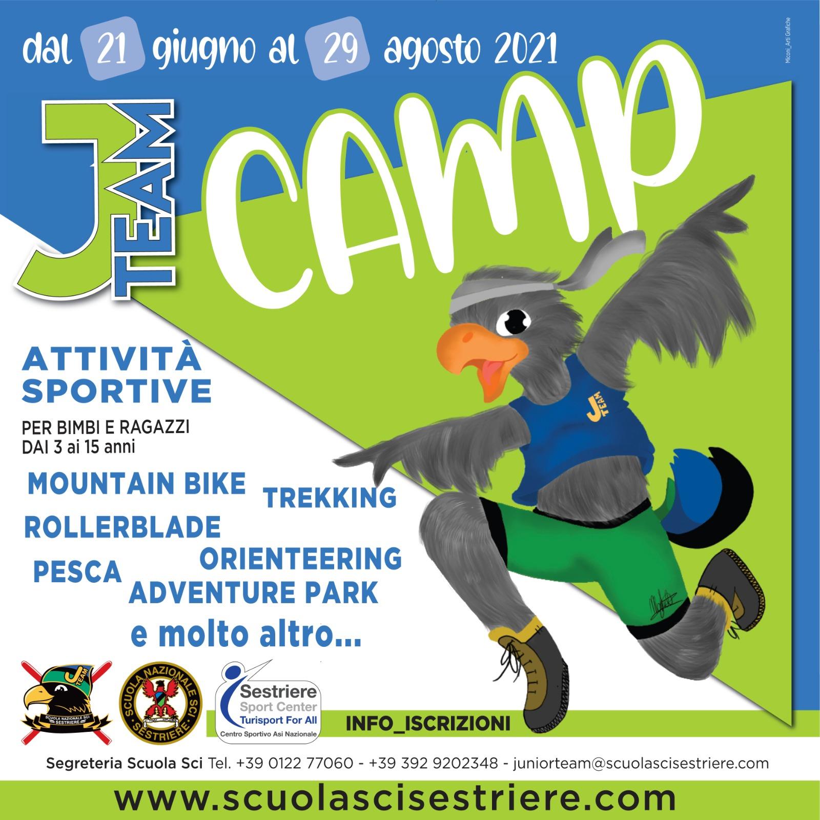 J TEAM CAMP per un'altra estate indimenticabile!
